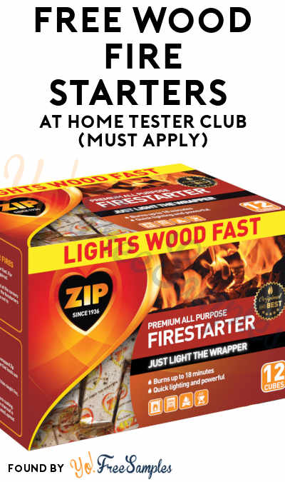 FREE Wood Fire Starters At Home Tester Club (Must Apply)