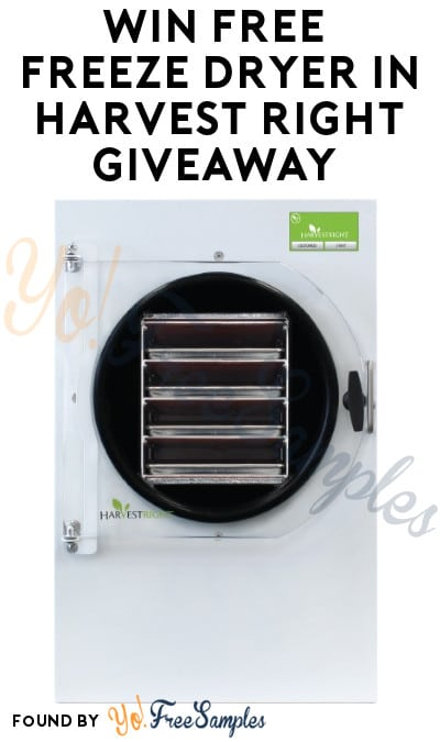 Win FREE Freeze Dryer in Harvest Right Giveaway