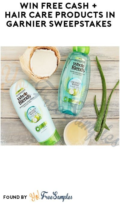 Win FREE Cash + Hair Care Products in Garnier Sweepstakes