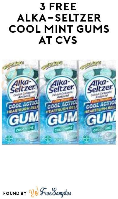 3 FREE Alka-Seltzer Cool Mint Gums at CVS (Account Required)