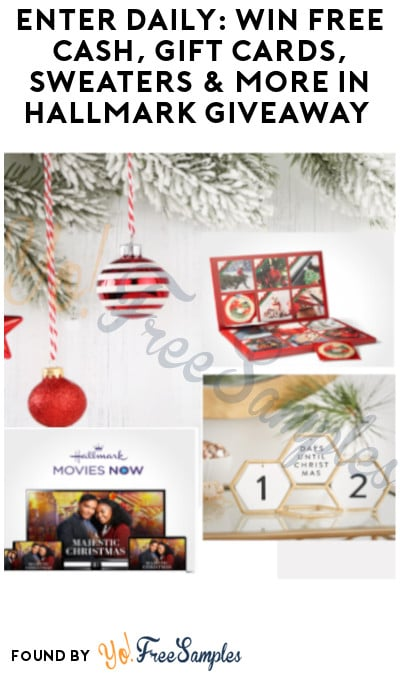 Enter Daily: Win FREE Cash, Gift Cards, Sweaters & More in Hallmark Giveaway (Ages 21 & Older Only)