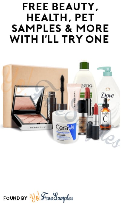 FREE Beauty, Health, Pet Samples & More with I'll Try One (Sign Up Required)