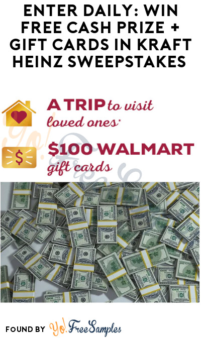 Enter Daily: Win FREE Cash Prize + Gift Cards in Kraft Heinz Sweepstakes (Photo Required)