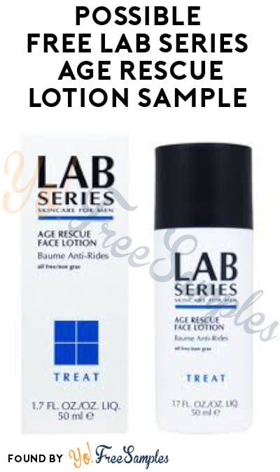 Possible FREE Lab Series Age Rescue Lotion Sample (Facebook Required)