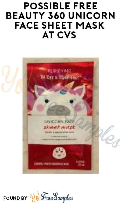 Possible FREE Beauty 360 Unicorn Face Sheet Mask at CVS (Select Accounts)