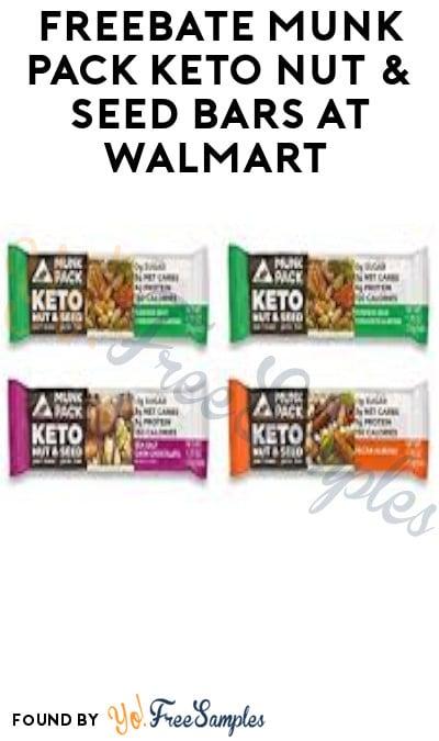 FREEBATE Munk Pack Keto Nut & Seed Bars at Walmart (Ibotta Required)