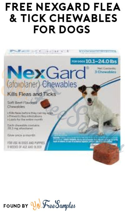 FREE NexGard Flea & Tick Chewables for Dogs (Prescription Required)