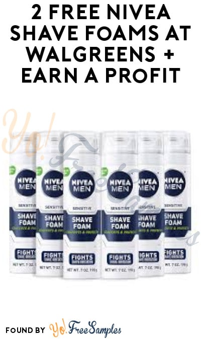 2 FREE Nivea Shave Foams at Walgreens + Earn A Profit (MyWalgreens + Coupons Required)