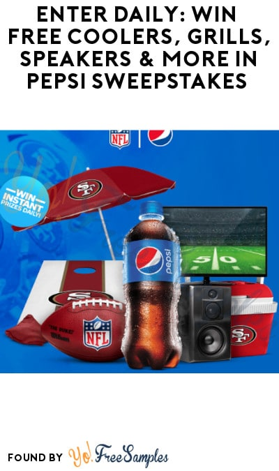 Enter Daily: Win FREE Coolers, Grills, Speakers & More in Pepsi Sweepstakes (Select States Only)