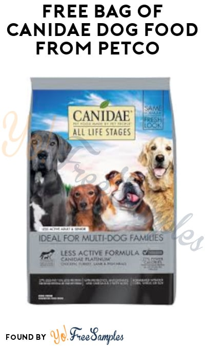 FREE Bag Of Canidae Dog Food from Petco (Coupon Required)