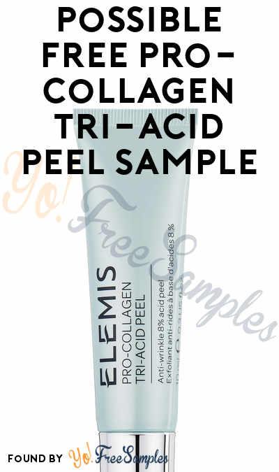 Possible FREE Pro-Collagen Tri-Acid Peel Sample