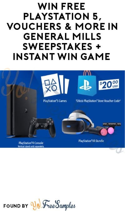 Win FREE PlayStation 5, Vouchers & More in General Mills Sweepstakes + Instant Win Game