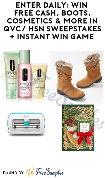 Enter Daily: Win FREE Cash, Boots, Cosmetics & More in QVC/ HSN Sweepstakes + Instant Win Game