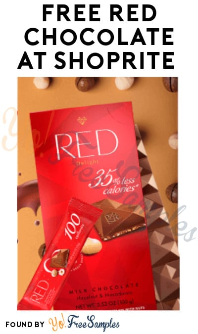 FREE Red Chocolate at ShopRite (Coupon Required)