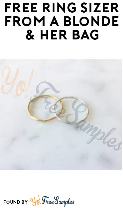 FREE Ring Sizer from A Blonde & Her Bag