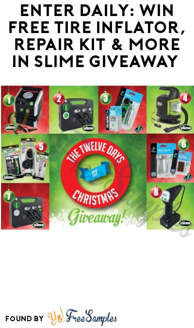 Enter Daily: Win FREE Tire Inflator, Repair Kit & More in Slime Giveaway