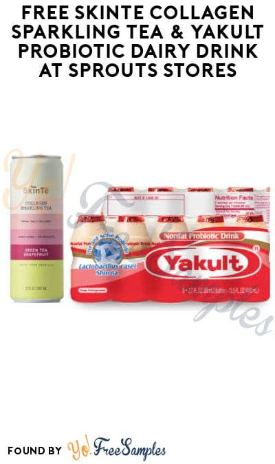 FREE SkinTē Collagen Sparkling Tea & Yakult Probiotic Dairy Drink at Sprouts Stores (Account Required)