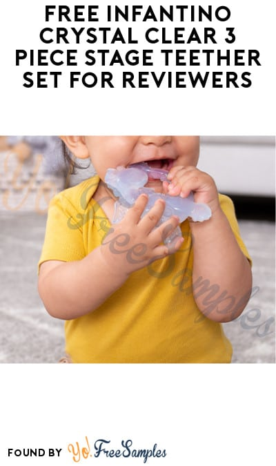 FREE Infantino Crystal Clear 3 Piece Stage Teether Set for Reviewers