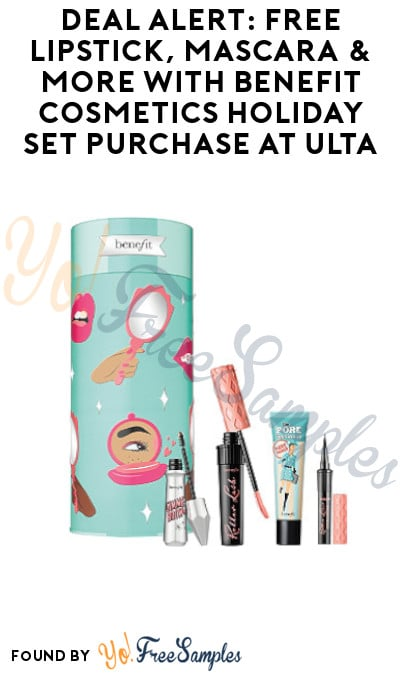 DEAL ALERT: FREE Lipstick, Mascara & More with Benefit Cosmetics Holiday Set Purchase at Ulta (Online Only)