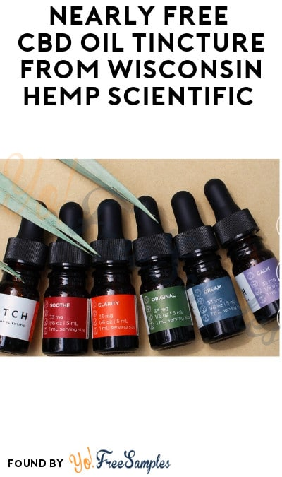 Nearly FREE CBD Oil Tincture from Wisconsin Hemp Scientific (Just Pay Shipping)