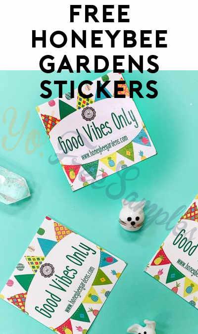 FREE Honeybee Gardens Stickers