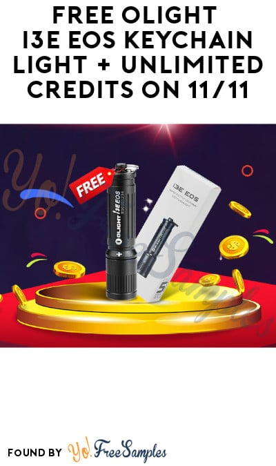 FREE Olight i3E EOS Keychain Light + Unlimited Credits on 11/11 (Registration Required)