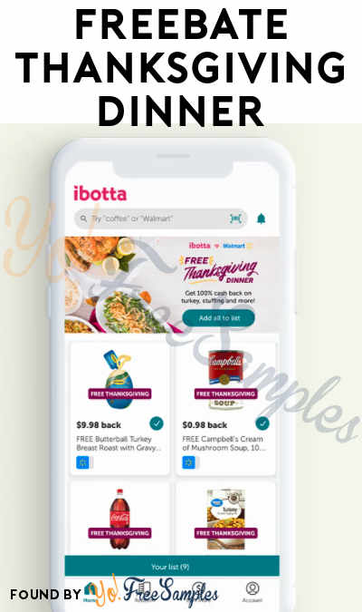 9 FREEBATE Thanksgiving Meal Items At Walmart (Ibotta Required)