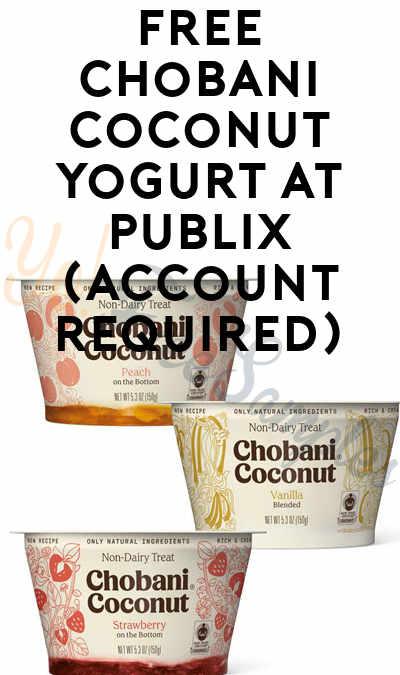 FREE Chobani Coconut Yogurt at Publix (Account Required)