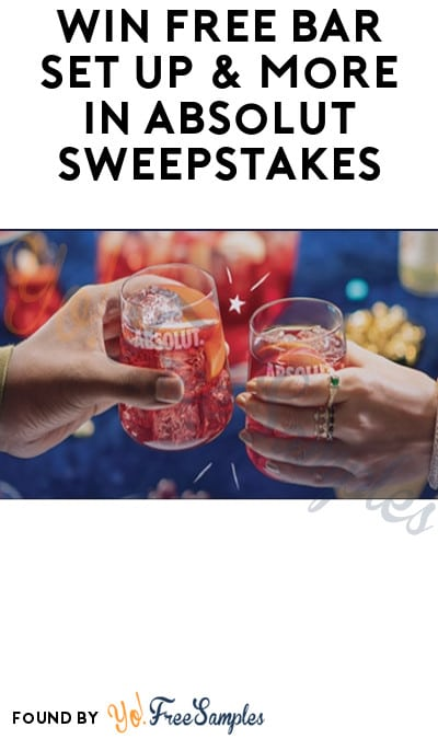 Win FREE Bar Set Up & More in Absolut Sweepstakes (Ages 21 & Older Only)