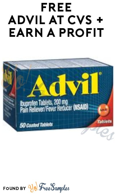 FREE Advil at CVS + Earn A Profit (App, Coupon & Ibotta Required)