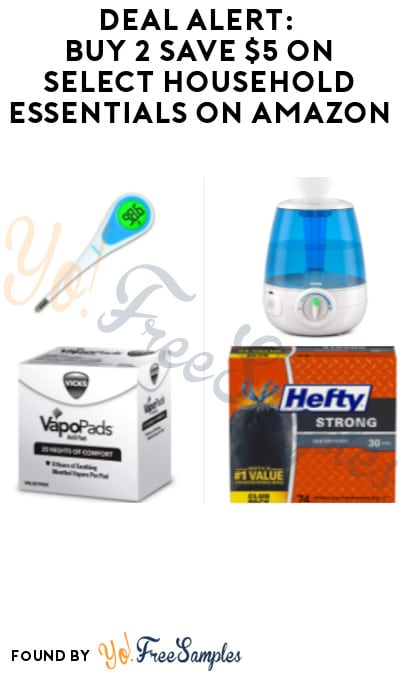 DEAL ALERT: Buy 2 Save $5 on Select Household Essentials on Amazon