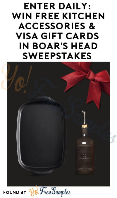Enter Daily: Win FREE Kitchen Accessories & Visa Gift Cards in Boar's Head Sweepstakes