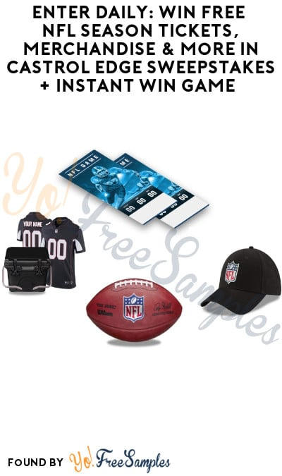 Enter Daily: Win FREE NFL Season Tickets, Merchandise & More in Castrol Edge Sweepstakes + Instant Win Game