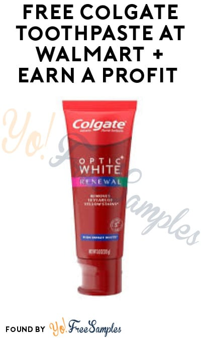 FREE Colgate Toothpaste at Walmart + Earn A Profit (Coupon, Ibotta & Shopkick Required)