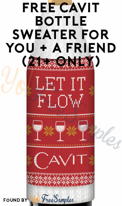 FREE Cavit Bottle Sweater For You + A Friend (21+ Only)