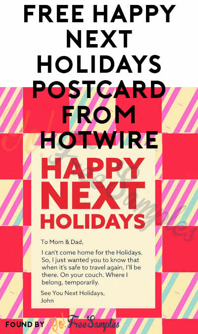 FREE Happy Next Holidays Postcard from Hotwire