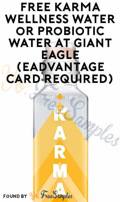 FREE Karma Wellness Water or Probiotic Water At Giant Eagle (eAdvantage Card Required)