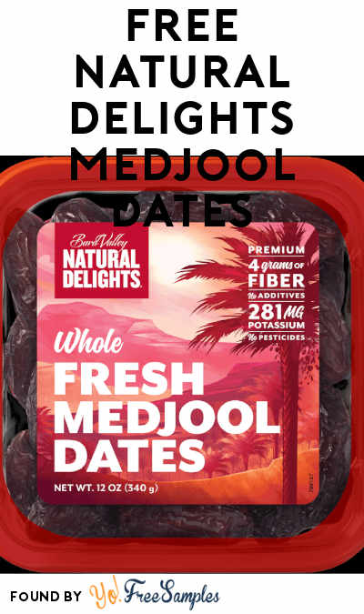 FREE Natural Delights Medjool Dates