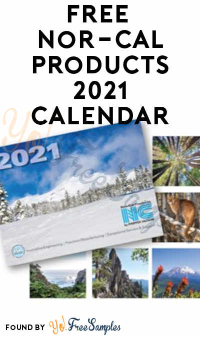 FREE Nor-Cal Products 2021 Calendar (Company Name Required)