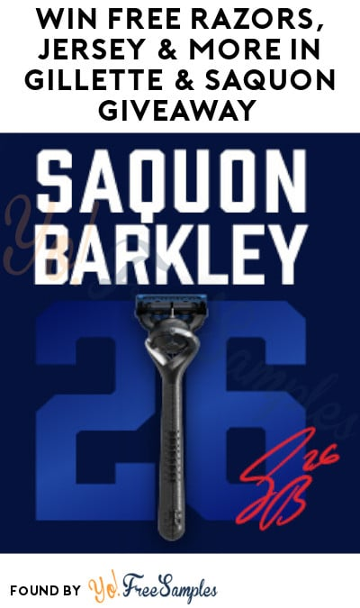 Win FREE Razors, Jersey & More in Gillette & Saquon Giveaway