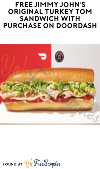 FREE Jimmy John's Original Turkey Tom Sandwich with Purchase on DoorDash