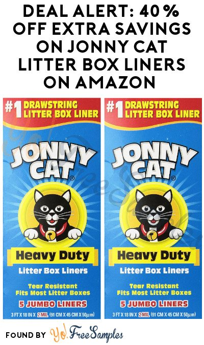 DEAL ALERT: 40% off Extra Savings on Jonny Cat Litter Box Liners on Amazon (Subscribe & Save Coupon)