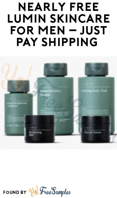 Nearly FREE Lumin Skincare for Men – Just Pay Shipping (Credit Card Required)
