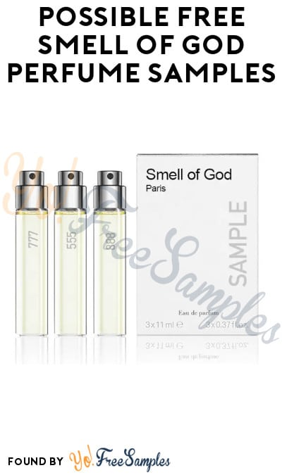 Possible FREE Smell of God Perfume Samples