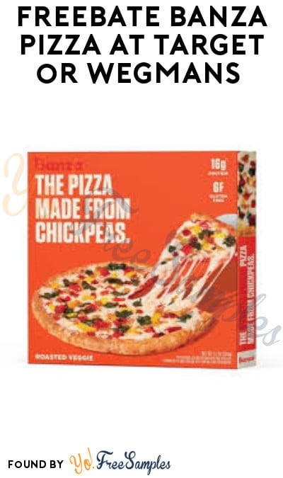 FREEBATE Banza Pizza at Target or Wegmans (Ibotta Required)