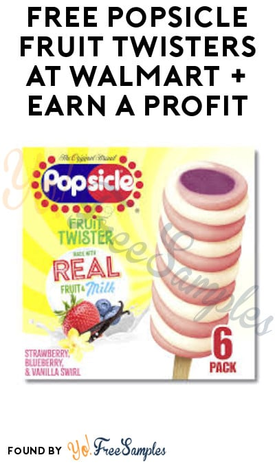 FREE Popsicle Fruit Twisters at Walmart + Earn A Profit (Fetch Rewards & Coupons.com Required)