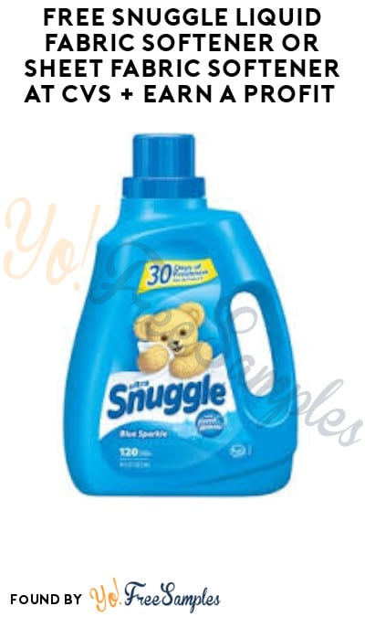 FREE Snuggle Liquid Fabric Softener or Sheet Fabric Softener at CVS + Earn A Profit (Account & Ibotta Required)