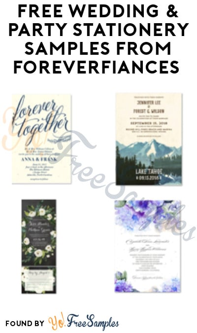 FREE Wedding & Party Stationery Samples from ForeverFiances