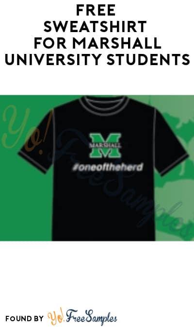 FREE Sweatshirt for Marshall University Students