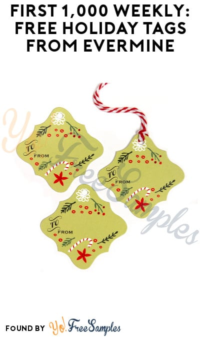 First 1,000 Weekly: FREE Holiday Tags from Evermine